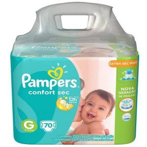 Fralda Descartável Pampers Confort Sec Bag Giga G 70 Unidades 4354026