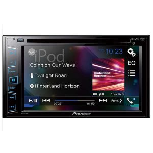 DVD Player Automotivo Pioneer AVH - 298BT 2 Din 6,2 Pol Bluetooth USB AUX CD AM FM MP3 RCA Microfone