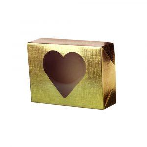 Caixa Tentação 10x14x4cm Coração Dourado Dourada