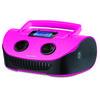 Caixa de Som Boombox 15W RMS USB / P2 / FM / Cartao de Memória - Rosa / Preta - SP184 SP184 Rosa