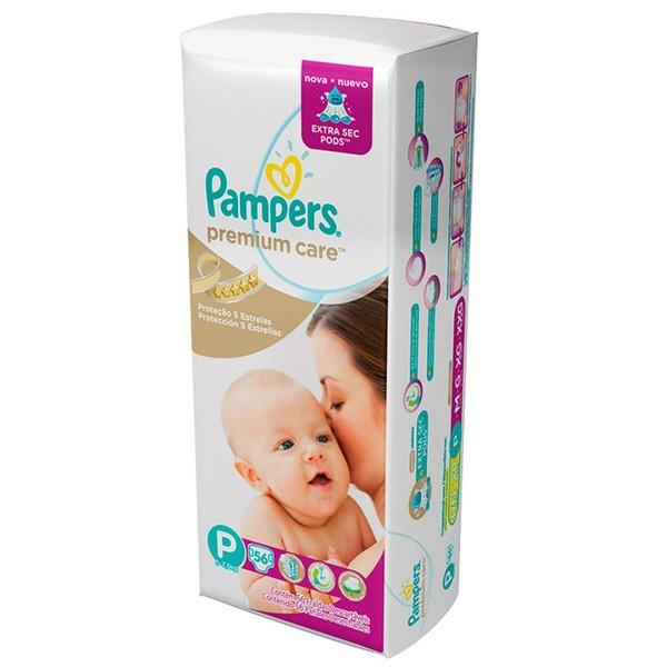 Fraldas Pampers Premium Care P Mega - 56 Unidades