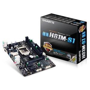 Placa Mae Lga 1150 Intel Gigabyte Ga - H81m - S1 M - Atx Ddr3 1600mhz Chipset H81 Usb 3.0 Ppb