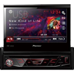 DVD Player Pioneer Avh - 3880 Retrátil USB + Câmera Ré 2 em 1 Para - Choque Borboleta Preta