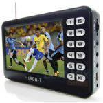 Tv Portatil Digital Tela 4.3 Polegadas Com Entrada Usb Rádio Fm Sd Video