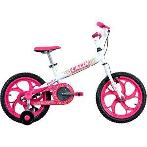 Bicicleta Caloi Ceci Aro 16 Branca