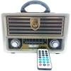 RADIO PORTATIL BLUETOOTH CAIXA DE SOM COM CONTROLE REMOTO VINTAGE RETRO COM USB SD EM MADEIRA MDF RECARREGAVEL