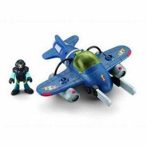 Boneco Fisher-Price Imaginext Avão Sky Racer Tornado Jet
