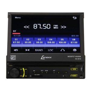 DVD Player Automotivo Lenoxx AD2619 1Din Tela 7 ´ Touchscreen Retrátil com Entradas USB Câmera de Ré Cartão SD Rádio FM