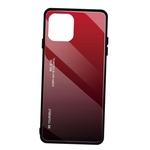 Capa em vidro degradê para iPhone 11 Pro 6,1 polegadas para iPhone 11 Vermelho + Preto Vidro para iPhone 11 Series