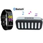 Smartwatch M3 Plus + Caixinha de som New Rixing