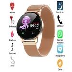 Relógio Inteligente SmartWatch M8 Feminino Pulseira Metal Dourada