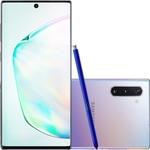 "Smartphone Samsung Galaxy Note 10 Dual Chip Android 9.0 Tela 6,3"" Octa-Core 256GB Wi-Fi Câmera 12MP Frontal 10MP- Prata"