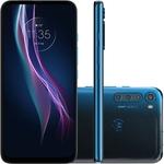 "Smartphone Motorola One Fusion+ Dual Chip Android 10 Tela 6.5"" 128GB 4G Wifi Câmera 64MP Frontal 16MP - Azul Índigo"