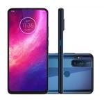"""Smartphone Motorola One Fusion+ 6.5"""", 128 GB, Android 10, Dual Chip, Câmera Quádrupla, Azul"""