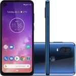 """Smartphone Motorola Moto One Vision XT1970-01 128GB, 4GB RAM, Câmera Traseira Dupla, Tela 6.3"""" Azul"""